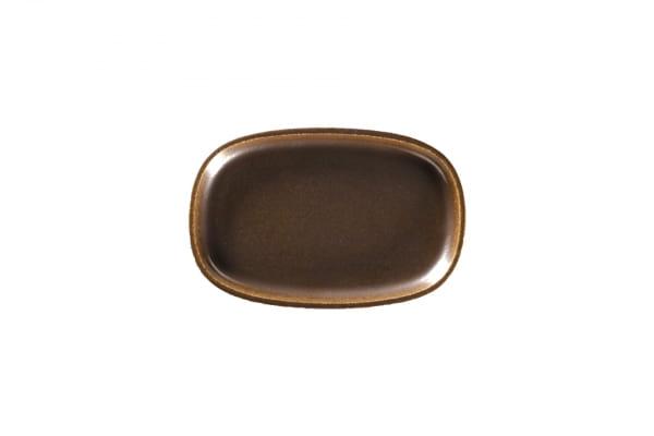 RAK Platte oval tief L 22,5 cm B 15 cm h 2,5 cm RAKSTONE / EASE Rust