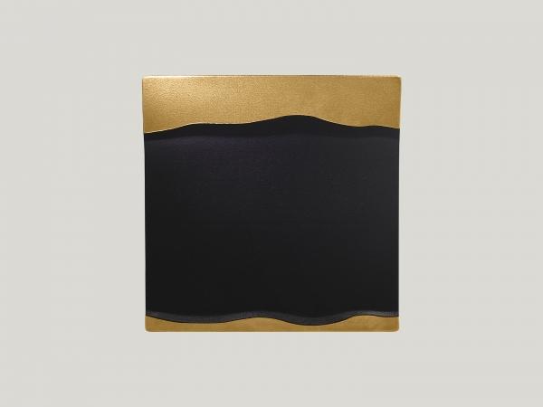 RAK Platte quadratisch L. 25 cm Br.25 cm H. 2,5 cm METALFUSION gold