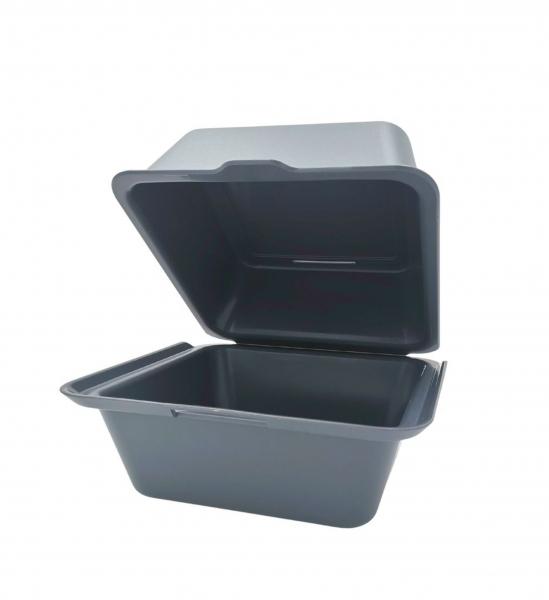 DishCircle Hamburgerbox aus robustem Kunststoff Größe: mittel Zuklappbar
