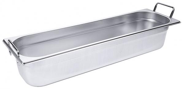 GN-Behälter mit Fallgriffen 2/4 Tiefe: 100 mm Volumen: 5,6 l