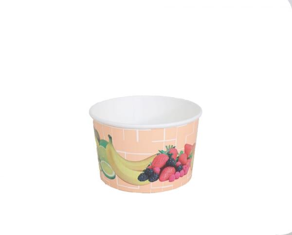 Eisbecher Hartpapier 340 ccm Früchtedruck