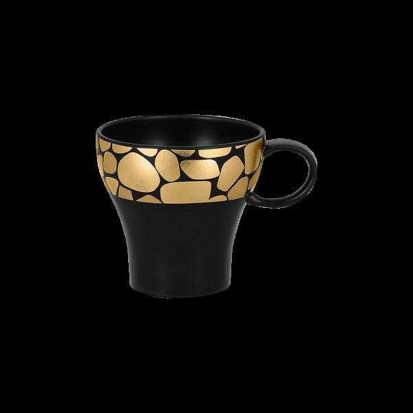 RAK Kaffeetasse D. 8,5 cm H. 8,2 cm Inh. 20 cl PEBBLES gold
