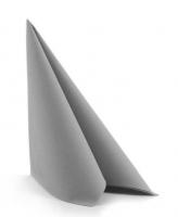 Airlaid-Servietten 40 x 40 cm Falz grey / hellgrau
