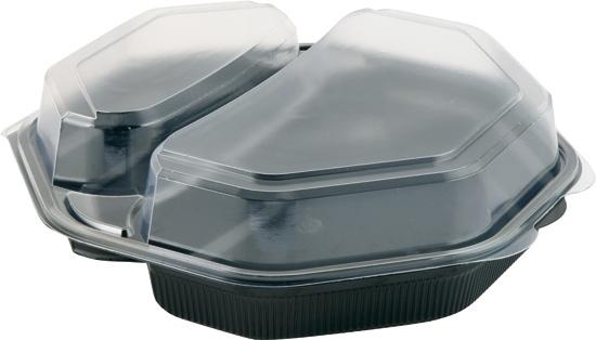 DUNI Octaview Boxen mit anhängendem Deckel 2-geteilt 230 x 230 x50 mm 580/280 ml