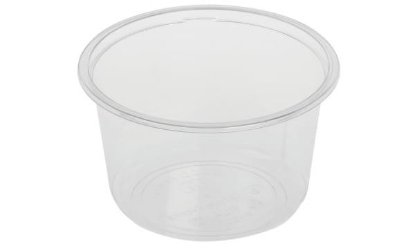 Verpackungsbecher PLA 500 ml Ø 12,1 cm H:7,3 cm rund transparent