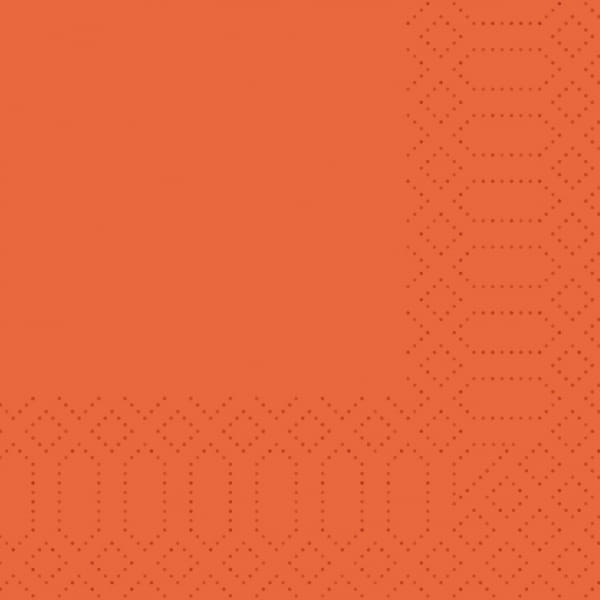 Duni-Servietten 24 x 24 cm 3-lagig 1/4 F mandarin