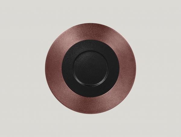 RAK Gourmetteller flach mit Relief-Dekor D. 29 cm H. 2 cm METALFUSION bronze