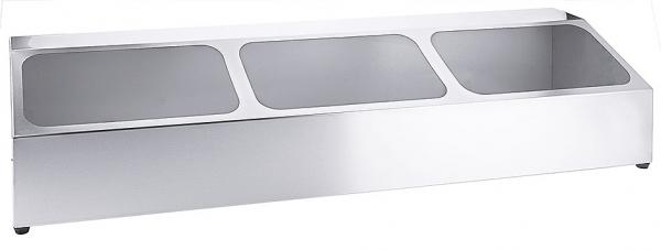 Kasten für GN-Behälter Länge: 98 cm Breite: 25 cm Höhe: 21 cm