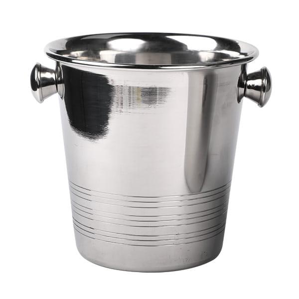 Ice-Bucket mini mit Griffen Ø 14 x H 14 cm Edelstahl