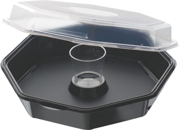 Octaviewbox mit Dressingglas 230 x 230 x 70 1250 ml
