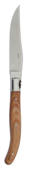 Steakmesser Serie TORRO mit hellem Pakka Holzgriff