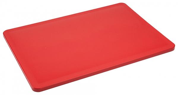 Schneidbrett HACCP Länge: 34,5 cm Breite: 24,5 cm Dicke: 1 cm rot