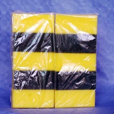 10 Scheuerschwämme 15 x 7 cm gelb grün