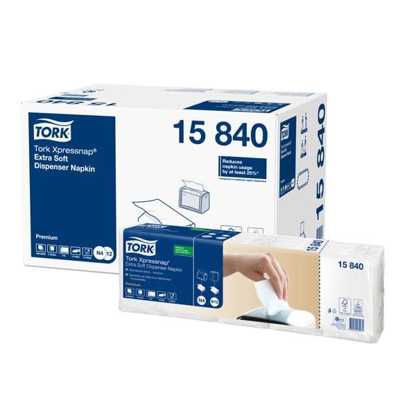 TORK Spenderservietten Premium N4 21,6 x 33 cm 2-lagig 1/4 F weiß Interfold