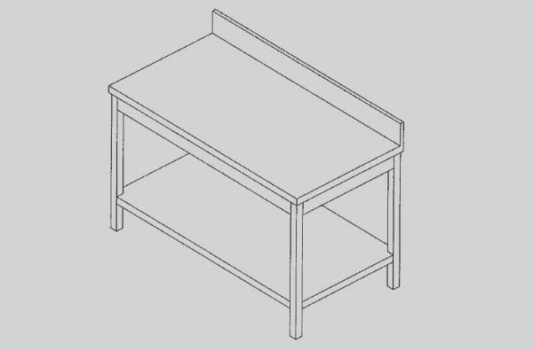 Arbeitstisch mit Grundboden und Aufkantung 1200 x 700 x 880 / 900 mm