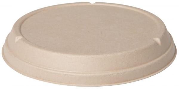 DUNI Decekl für Salatschalen Bagasse rund braun