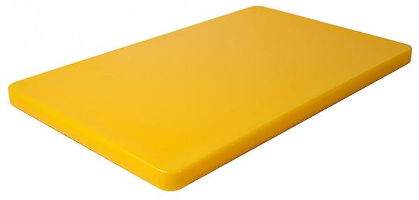 Schneidbrett HACCP mit Füßchen; GN-Größe 1/1 Länge: 53 cm Breite: 32,5 cm Dicke: 2,5 cm gelb