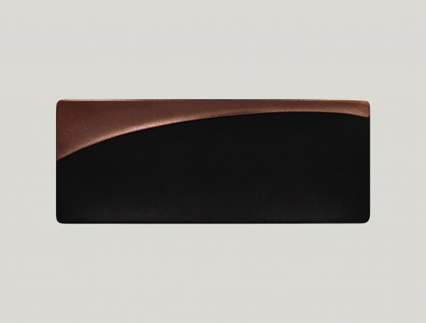 RAK Platte rechteckig/Sushi-Platte L.42 cm Br.16,4 cm H.2 cm METALFUSION bronze