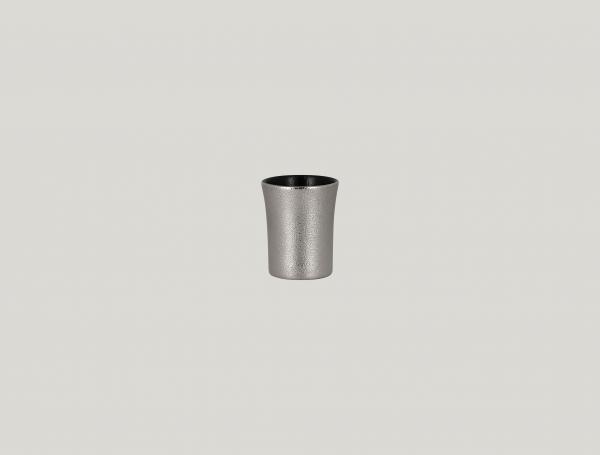 RAK Tasse ohne Henkel D. 6 cm H. 7 cm Inh. 9 cl METALFUSION silber