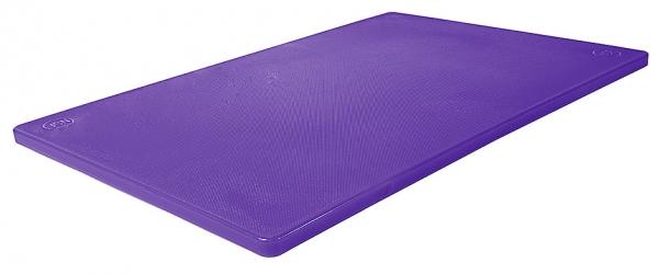 Schneidbrett HACCP mit Füßchen Länge: 45 cm Breite: 30 cm Dicke: 1,2 cm violett