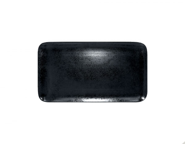 RAK Platten rechteckig 38 x 21 cm KARBON schwarz (KRAURP38)