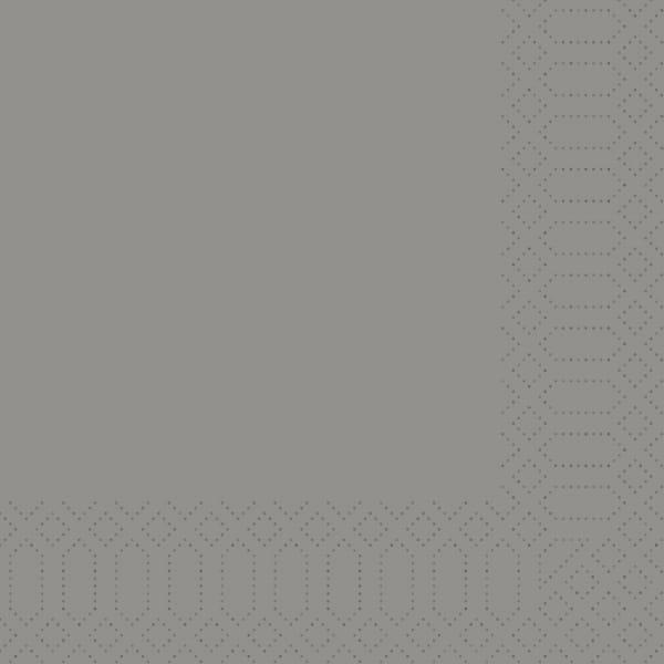 DUNI Servietten 24 x 24 cm 3-lagig 1/4 falz granite grey