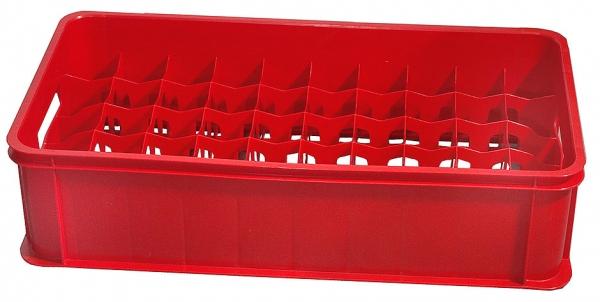 Gläserkasten Maximale Glashöhe: 17 cm Maximaler Glasdurchmesser: 6,9 cm rot
