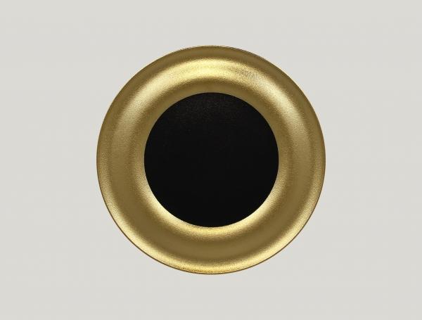 RAK Teller flach D. 31 cm METALFUSION gold