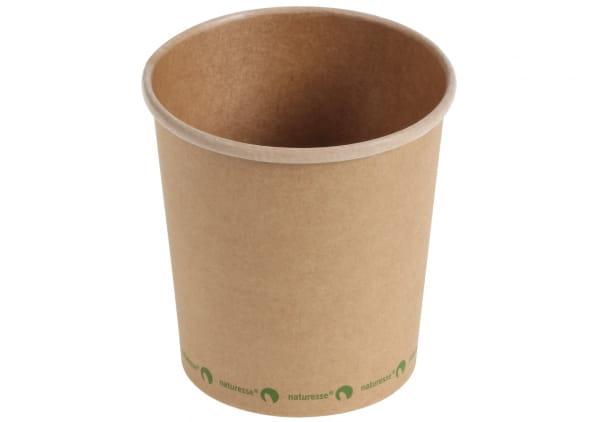 Naturesse Suppenbecher Kraftpapier PLA beschichtet 480 ml braun (15531)