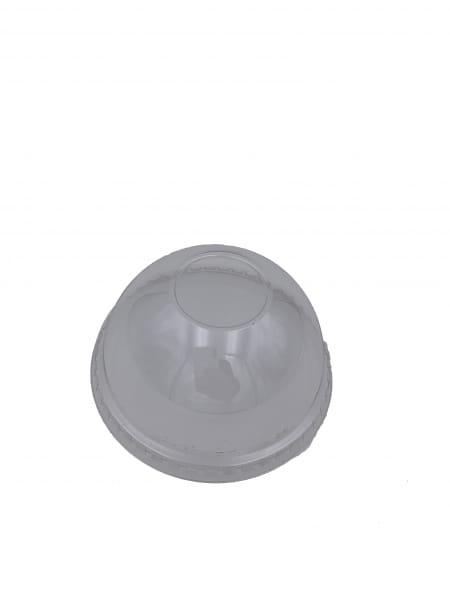 Smoothie Dom-Deckel PET ohne Loch Ø 95 mm klar