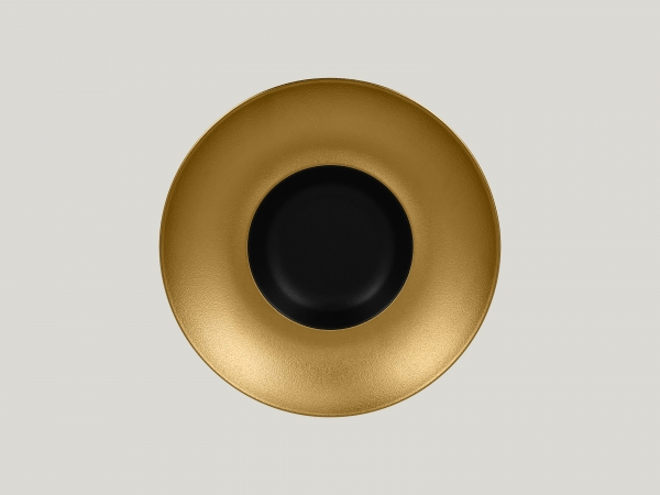 RAK Gourmetteller tief D. 26 cm H. 6 cm METALFUSION gold