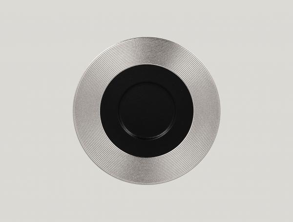 RAK Gourmetteller flach mit Relief-Dekor D. 29 cm H. 2 cm METALFUSION silber