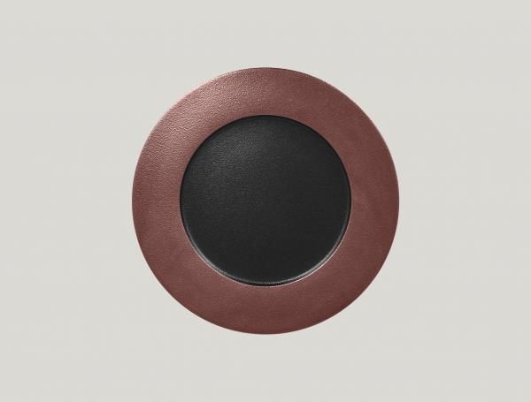 RAK Teller flach D. 29 cm H. 2 cm METALFUSION bronze