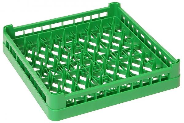 Geschirrspülkorb TELLER Länge außen: 50 cm Breite außen: 50 cm Höhe außen: 10 cm grün