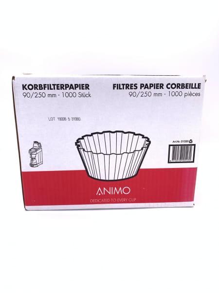 Korbfilterpapier 90/250 mm Animo für kleinere Kaffeemaschinen