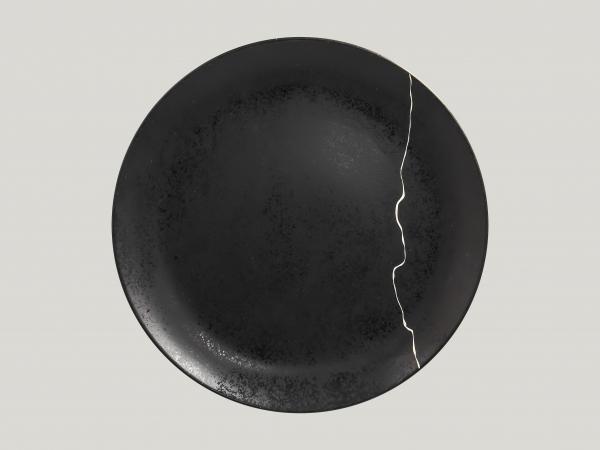 RAK Teller flach coup Ø 29 cm Schwarz/Silber KINTZOO (KZNNPR29S1)