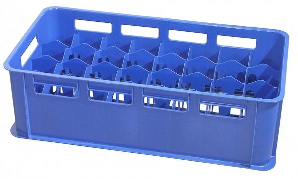 Gläserkasten Maximale Glashöhe: 20,5 cm Maximaler Glasdurchmesser: 8,6 cm blau