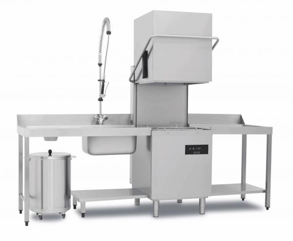 Hauben-Geschirrspülmaschine (Durchschub) elektronisch doppelwandig