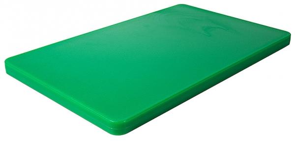 Schneidbrett HACCP mit Füßchen; GN-Größe 1/1 Länge: 53 cm Breite: 32,5 cm Dicke: 2,5 cm grün