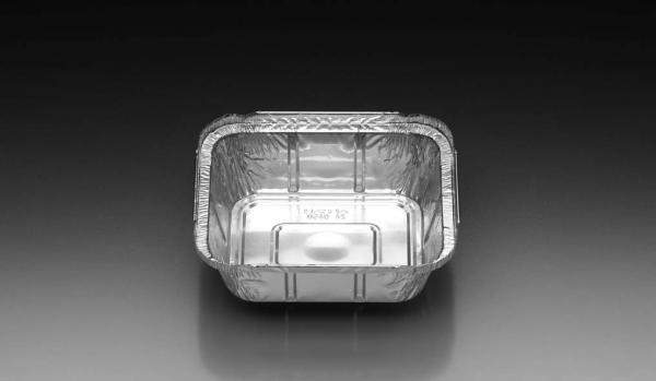 Aluschalen quadratisch / eckig 145 x 120 x 40 mm 450 ml