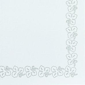 DUNI Servietten Dunicel 41 x 41 cm Weinranke weiß