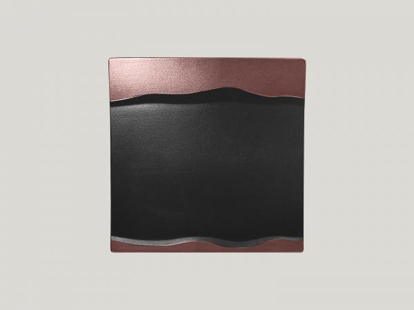 RAK Platte quadratisch L. 25 cm Br. 25 cm H. 2,5 cm METALFUSION bronze