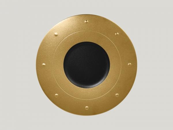 RAK Teller rund D. 31 cm H. 2,5 cm METALFUSION gold