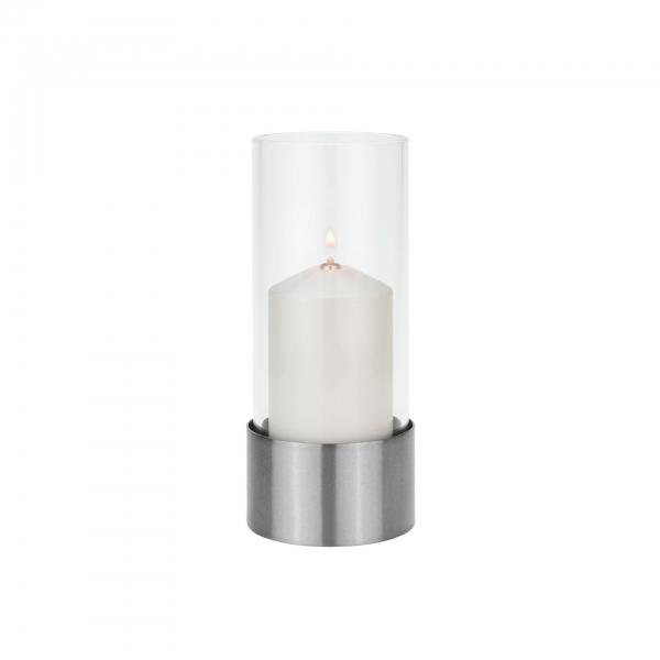 Yago nickel Candola Zierhülle weiß 15 cm (Glas: g650)
