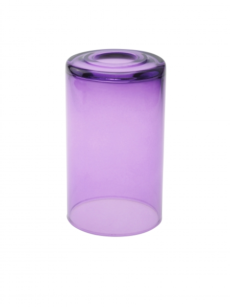 Candola Glaszylinder klar gekürzt, viola (Type: V) - 6 Stück