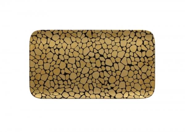 RAK Platte rechteckig L. 33 cm Br. 22 cm H. 1,7 cm PEBBLES gold
