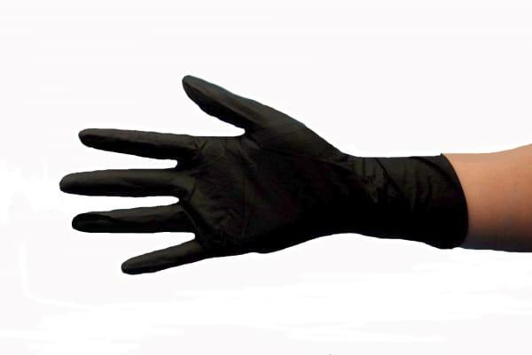 Nitril Handschuhe puderfrei S schwarz