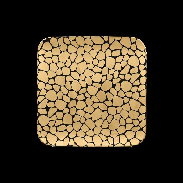 RAK Teller quadratisch L. 22 cm Br. 22 cm H. 1,7 cm PEBBLES gold