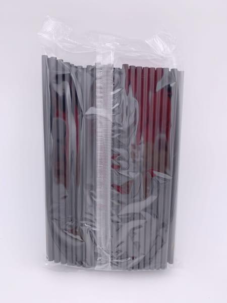 Jumbo Trinkhalme 25 cm Ø 8 mm schwarz