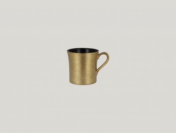 RAK Kaffeetasse mit Relief-Dekor D. 7,7 cm H. 7,8 cm Inh. 20 cl METALFUSION gold